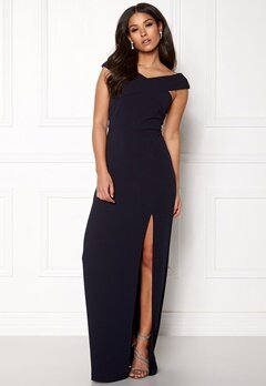 AX Paris Off The Shoulder Cross Navy Bubbleroom.fi
