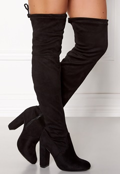 AX Paris Overknee Boots Black Bubbleroom.fi