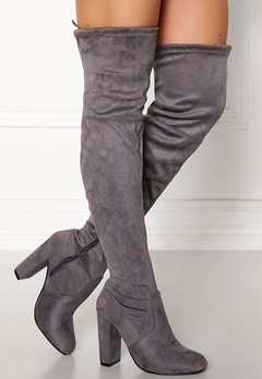 AX Paris Overknee Boots Grey Bubbleroom.fi