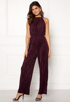 AX Paris Pleated Highneck Jumpsuit Plum Bubbleroom.fi