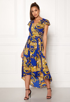 AX Paris Printed Cap Maxi Dress Royal Blue Bubbleroom.fi