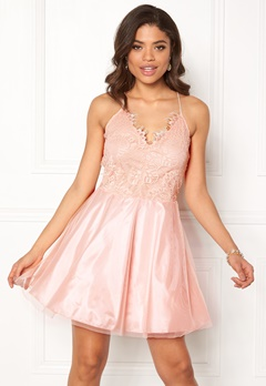 AX Paris Prom Lace Detail Dress Pink Bubbleroom.fi