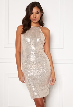AX Paris Sequin Mini Dress Champagne Bubbleroom.fi