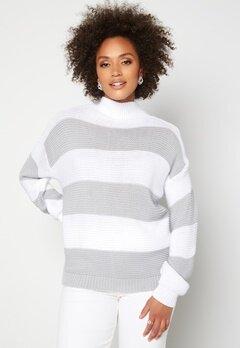 AX Paris Stripe Knitted Jumper Grey Bubbleroom.fi