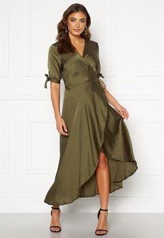 AX Paris Wrap Front Tie Dress Khaki Bubbleroom.fi