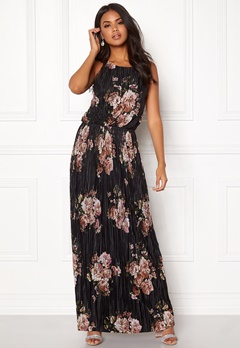 VILA B Maxi S/L Dress Black Bubbleroom.fi