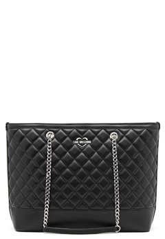 Love Moschino Bag With Chain 00A Black/Silver Bubbleroom.fi