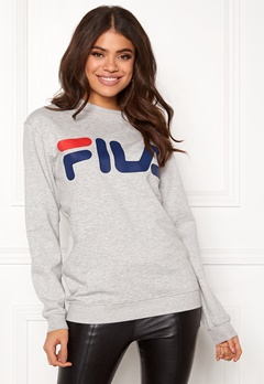 FILA Basic Classic Logo Sweat Light Grey Bubbleroom.fi