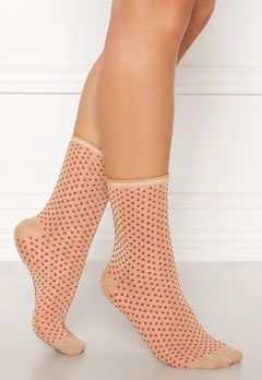 Becksøndergaard Dina Dots Sock Red Love Bubbleroom.fi