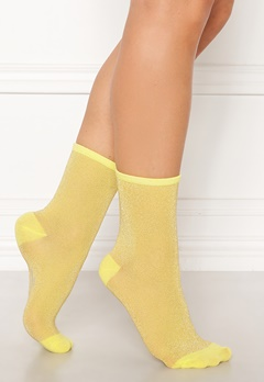 Becksøndergaard Dina Solid Socks Yellow Bubbleroom.fi