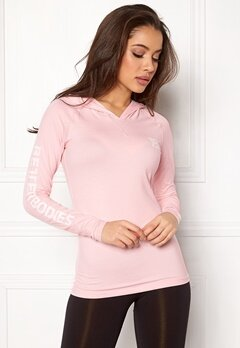 Better Bodies Performance LS Hood Pink Print Bubbleroom.fi
