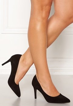 Bianco Cait Basic Suede Pumps Black Bubbleroom.fi