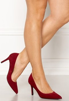 Bianco Cait Basic Suede Pumps Wine Bubbleroom.fi