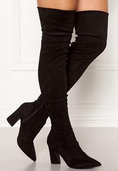 Bianco Carter Overknee Boots Black Bubbleroom.fi