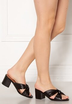 Bianco Cate Knot Mule Sandal 100 Black Bubbleroom.fi