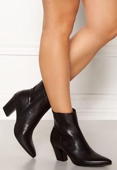 Bianco Celeste Zip Leather Boots Black Bubbleroom.fi