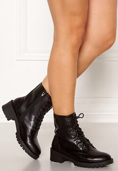 Bianco Claire Laced-Up Boots Black Bubbleroom.fi
