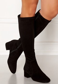 Billi Bi Suede Stretch Long Boots Black Bubbleroom.fi