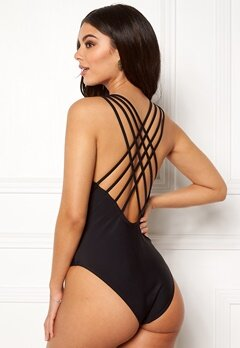 Pieces Bine Swimsuit Black Bubbleroom.fi