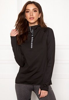 Björn Borg Half Zip Polo Christa Black Beauty Bubbleroom.fi