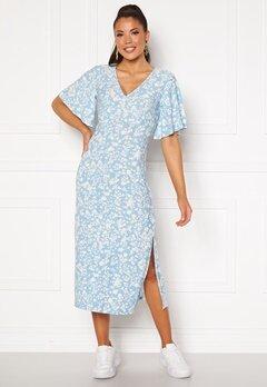 Blue Vanilla Angel Sleeve Midi Dress Pale Blue Bubbleroom.fi