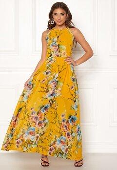 Blue Vanilla Floral Keyhole Maxi Dress Orange Bubbleroom.fi