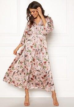 Blue Vanilla Floral Kimono Midi Dress Pink Bubbleroom.fi