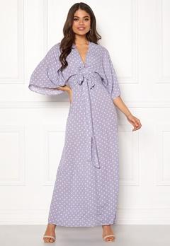 Blue Vanilla Kimono Sleeve Maxi Dress Lilac Bubbleroom.fi