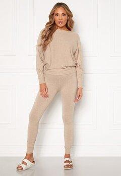 Blue Vanilla Knitted Slim Fit Trouser Jumper Set Stone Bubbleroom.fi