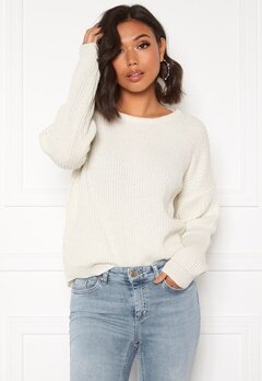 Blue Vanilla Round Neck Jumper Cream Bubbleroom.fi
