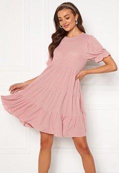 Blue Vanilla Tiered Mini Dress Pink Bubbleroom.fi