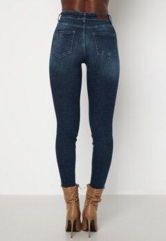 ONLY Blush Life Mid Ank Raw Jeans Dark Blue Denim Bubbleroom.fi