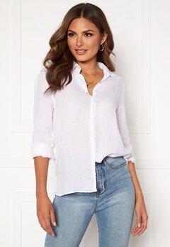 Boomerang Lina Linen Shirt White Bubbleroom.fi