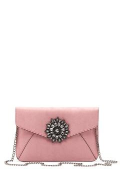 New Look Brooch Envelope Clutch Shell Pink Bubbleroom.fi