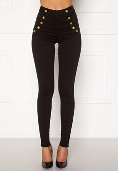 BUBBLEROOM Adina highwaist jeans Black Bubbleroom.fi