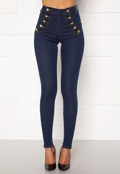 BUBBLEROOM Adina highwaist jeans Midnight blue Bubbleroom.fi