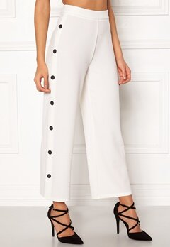 BUBBLEROOM Alexa button trousers White / Black Bubbleroom.fi