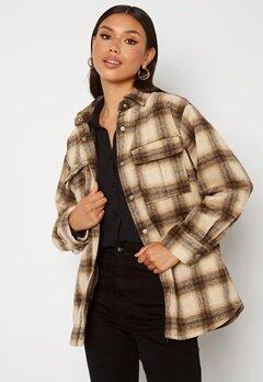 BUBBLEROOM Alice Check Shirt Jacket Beige / Brown / Checked bubbleroom.fi