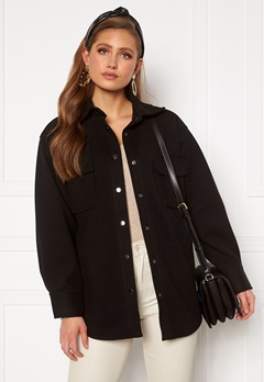 BUBBLEROOM Alice Shirt Jacket Black Bubbleroom.fi