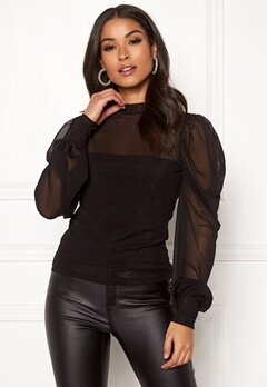 BUBBLEROOM Alida mesh top Black Bubbleroom.fi
