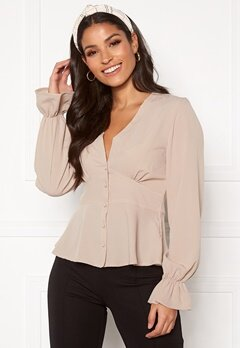 BUBBLEROOM Aliya blouse Light beige Bubbleroom.fi