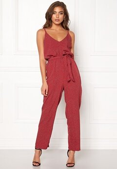 BUBBLEROOM Amal jumpsuit Red / White / Dotted Bubbleroom.fi
