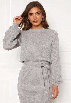 BUBBLEROOM Amira knitted dress Grey melange Bubbleroom.fi