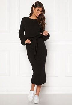 BUBBLEROOM Amira knitted dress Black Bubbleroom.fi