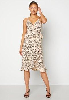 BUBBLEROOM Analisa dress Beige / Black / Dotted Bubbleroom.fi