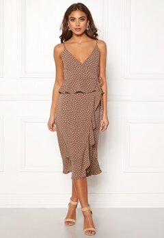BUBBLEROOM Analisa dress Brown / White / Dotted Bubbleroom.fi