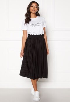 BUBBLEROOM Anna midi pleated skirt Black Bubbleroom.fi