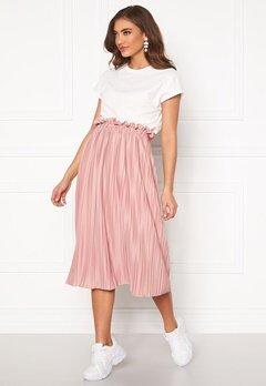 BUBBLEROOM Anna midi pleated skirt Dusty pink Bubbleroom.fi