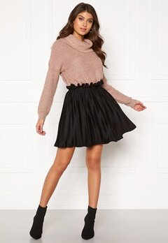BUBBLEROOM Anna short pleated skirt Black Bubbleroom.fi