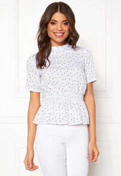 BUBBLEROOM Anna top White / Blue / Dotted Bubbleroom.fi